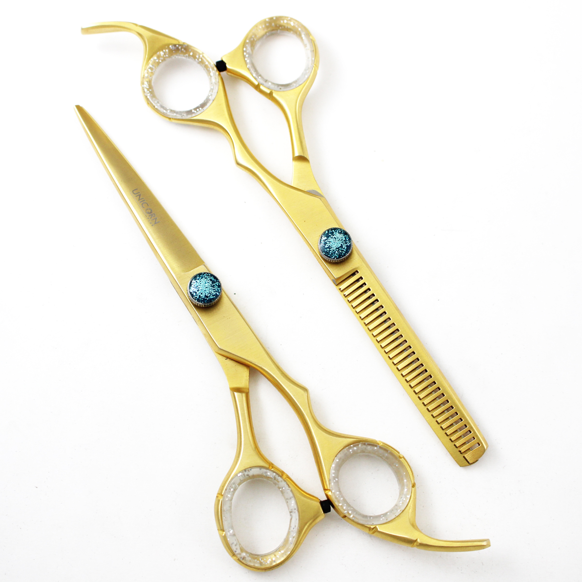 Professional Barber Hair Cutting Shears Set in Gold Color ...